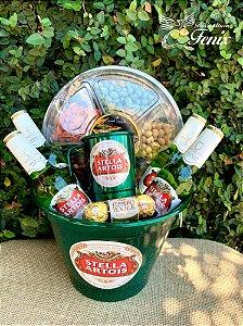 Mega Balde Stella Artois Com Mix de Amendoins