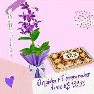 Orquídea Denphal com Ferrero rocher