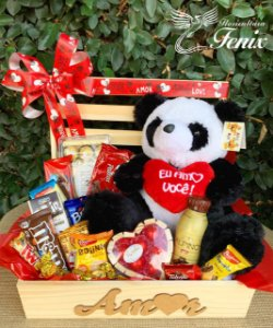 Baú de Chocolates com Panda