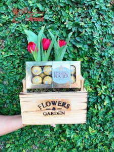 Tulipa com Chocolates