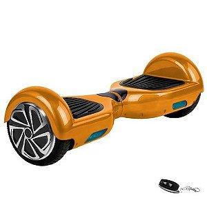 "Scooter Elétrico Smart Balance Wheel 6.5"" Speaker/Bluetooth + Controle Remoto/Dourado"