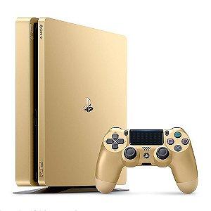 Console Playstation 4 Slim Gold Edition Sony 1TB