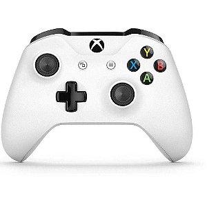 Controle Console Xbox One S Branco White Wireless P2