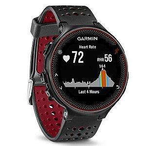 """Relógio Garmin Forerunner 235 1.23""""/GPS/Sensor de Frequência Cardíaca/Acelerômetro - Preto/Vermelho"""