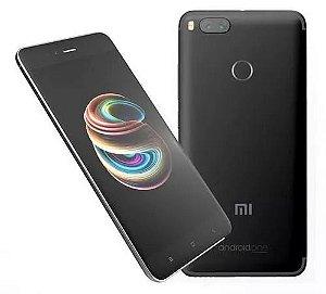 """Celular Xiaomi Mi A1 64GB LTE Dual Tela 5.5""""Câm.12/12MP+5MP - Preto"""