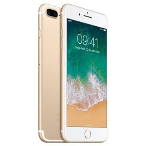 "Apple iPhone 7 Plus A1784 256GB Tela Retina HD 5.5"" 12MP/7MP iOS 10 - Dourado"