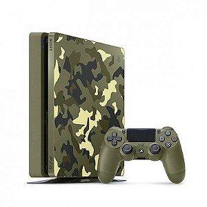 Console Sony Playstation 4 Slim 1TB + Jogo Call Of Duty: WWII Camuflado