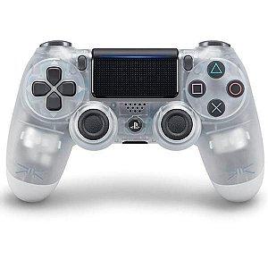 Controle Sem Fio Sony DualShock 4 CUH-ZCT2G para PlayStation 4 - Transparente