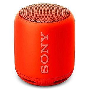Speaker Sony SRS-XB10 com Bluetooth/Auxiliar - Vermelho