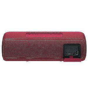 Speaker Sony SRS-XB41 com Bluetooth/NFC/USB/Auxiliar - Vermelho
