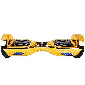 """Scooter Elétrico Smart Balance Starwhell Chrome 6.5"""" Com Bluetooth E Bolsa - Dourado"""