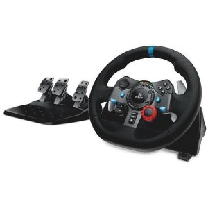 Volante Logitech Driving Force G92 941000110 para PlayStation 3 e 4 Bivolt - Preto