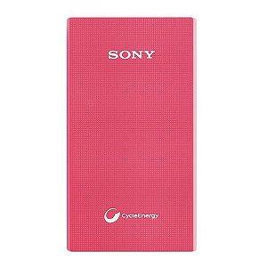 Carregador Portátil Sony CP-V5A de 5.000 mAh - Rosa