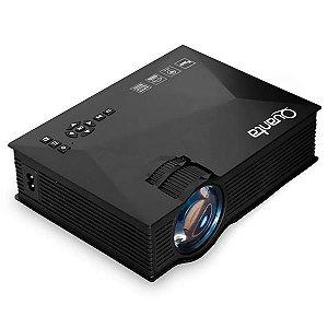 Projetor Quanta QTPRO510 1.200 Lúmens com Wi-Fi/HDMI/USB Bivolt - Preto