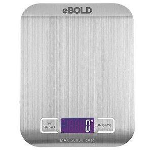 Balança Digital para Cozinha eBOLD BD-100 até 5 kg - Prata/Branco