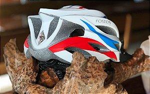 Capacete Foston SP3 - Branco, Vermelho e Azul