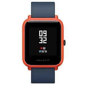 Smartwatch Xiaomi Bip A1608 com Bluetooth/GPS - Preto/Vermelho