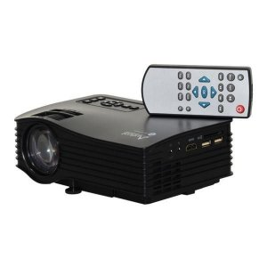 Projetor Audisat PJ-035 Wi-Fi de 30 ANSI Lumens 1080p/HDMI/USB/SD/Bivolt - Preto