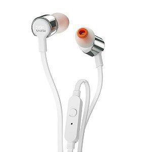 Fone de Ouvido JBL T210 com Microfone - Branco
