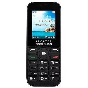 """Celular Alcatel One Touch 10.50A com Tela 1.8"""" Câmera VGA - Preto"""