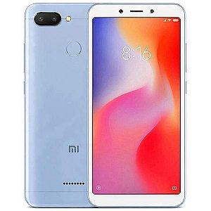 """Smartphone Xiaomi Redmi 6 Dual SIM 64GB Tela de 5.45"""" 12+5MP/5MP OS 8.1.0 - Azul"""