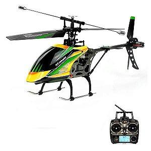 Helicóptero de Controle WLtoys Hover V912 com Giro 360º/2.4GHz - Amarelo