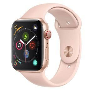 Apple Watch Series 4 Cellular + GPS, 44 mm, Alumínio Dourado, Pulseira Esportiva Rosa
