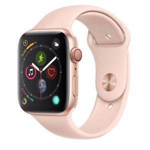 Apple Watch Series 4 Cellular + GPS, 44 mm, Alumínio Dourado, Pulseira Esportiva Rosa