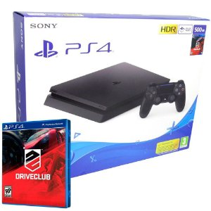 Console Playstation 4 Slim 500GB c/ Jogo Driveclub - PS4