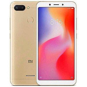 """Smartphone Xiaomi Redmi 6 Dual SIM 32GB Tela de 5.45"""" 12+5MP/5MP OS 8.1.0 - Dourado"""
