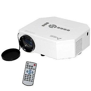 Projetor Audisat PJ-030 de 150 Lumens com HDMI/USB/Leitor SD Bivolt - Branco