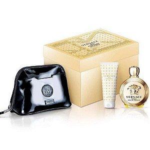 Perfume Kit Versace Eros Edp 100 Ml + Loção + Necessaire