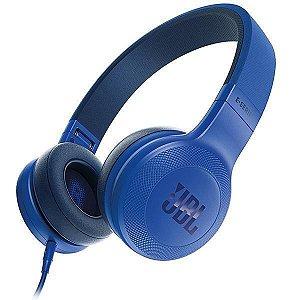 Fone de Ouvido Sem Fio JBL E35 com Microfone – Azul