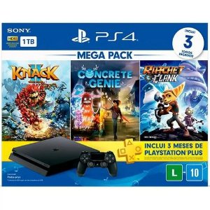 Console PS4 Mega Pack Family, 1TB, Knack 2 + Concrete Genie + Ratchet & Clank
