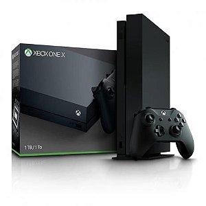 Console Xbox One X de 1TB Microsoft 1787 Bivolt - Preto