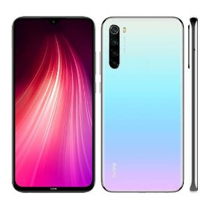 "Smartphone Xiaomi Redmi Note 8T Dual SIM 64GB 6.3"" 48+8+2+2MP/13MP OS 9.0 - Moonlight White"