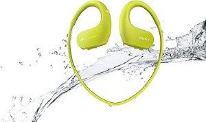 Fone de Ouvido Esportivo Sem Fio Sony NW-WS413LM Resistente à Água - Verde