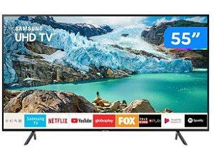 "TV LED Samsung 55"" 55RU7100 UHD 4K Smart, Bluetooth, HDMI, USB, Controle Remoto Único, HDR Premium"