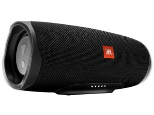 Speaker JBL Charge 4 30 watts RMS com Bluetooth/USB Bateria 7.500 mAh - Preta