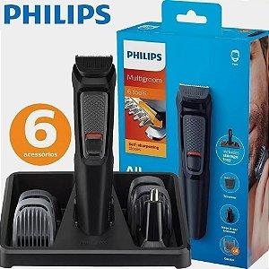Aparador De Pelos Multigroom com 6 Acessórios MG3712 - Philips