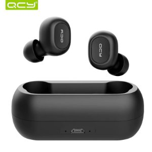 Qcy QS1 Fone bluetooth 5.0 Full-wireless Preto