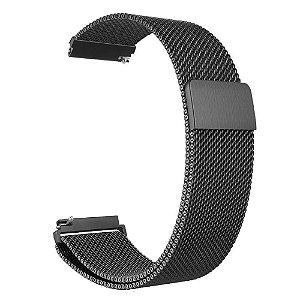 Pulseira milanese magnética 20mm Para smartwatch