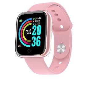 Relogio Inteligente Smartwatch Y68 Rosa