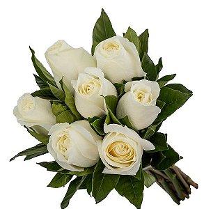 Buquê 7 rosas brancas