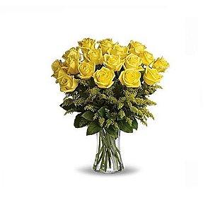 Buquê 20 rosas Amarelas em vaso