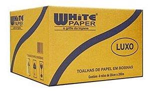 Papel Toalha Bobina Branco WHITE PAPER
