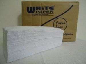 Papel Toalha Interfolhas Branco 2 Dobras EXTRA LUXO