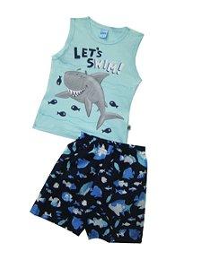 Conjunto Regata Tubarão Azul