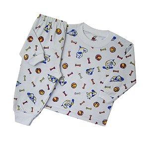 Pijama Manga Longa Estampado - Ossinho