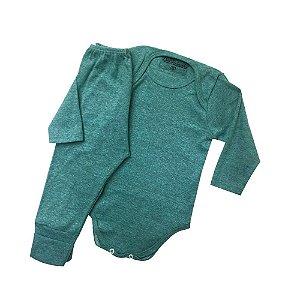 Conjunto de Body Ribaninha - Verde Mescla